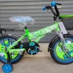 จักรยานเด็กเล็ก ล้อ 12 นิ้ว Comp รุ่น Paris มีล้อช่วยทรงตัว สีแดง เขียว เหลืองนีออน