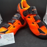 รองเท้าคลีต S Fight F362 สีส้มดำ แบบ 2 in 1 ใส่ได้ทั้งคลีตหมอบและภูเขา พื้นไนล่อน