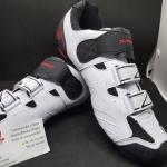 รองเท้าคลีต S Fight F362 สีขาวดำ แบบ 2 in 1 ใส่ได้ทั้งคลีตหมอบและภูเขา พื้นไนล่อน