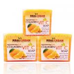 สบู่คอลลาเจนวิตซีหน้าใส Collagen Vit C Soap เพื่อความขาวสว่างใสดุจเกิดผิวใหม่ ช่วยเร่งการทำงานของคอลลาเจน เร่งความขาวกระจ่างใสล้ำลึกจากภายใน