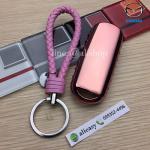 กรอบ-เคสยาง TPU ใส่กุญแจรีโมทรถยนต์ Mazda 2,3/CX 5 2018 Smart Key 3 ปุ่ม (สีชมพู+พวงกุญแจ)