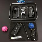 กรอบ-เคส ใส่กุญแจรีโมทรถยนต์ รุ่นเรืองแสง ABS All New Ford Ranger,Everest 2015-17 Key 2-3 ปุ่ม สีดำ