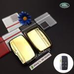 กรอบ-เคสยาง ใส่กุญแจรีโมทรถยนต์ Land Rover Smart Key สีทอง