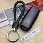 กรอบ-เคสยาง TPU ใส่กุญแจรีโมทรถยนต์ Mazda 2,3/CX 5 2018 Smart Key 3 ปุ่ม (สีดำ+พวงกุญแจ)