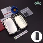 กรอบ-เคสยาง ใส่กุญแจรีโมทรถยนต์ Land Rover Smart Key สีเงิน