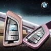 กรอบ-เคส ใส่กุญแจรีโมทรถยนต์ รุ่นไทเทเนียม Bmw X1,X5 Smart Key (พร้อมพวง)