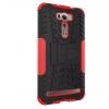 เคส asus zenfone 2 laser 6 ze601kl ASUS_Z011D TPU+PC DAZZLE KICKSTAND CASE สีแดง