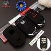 ปลอกซิลิโคน หุ้มกุญแจรีโมทรถยนต์ All New Honda CR-V G5 2017 Smart Key 3 ปุ่ม สี ดำ/แดง