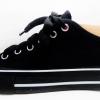 [พร้อมส่ง]รองเท้าผ้าใบแฟชั่น สีดำล้วน + พื้นดำ ขอบขาว