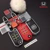 กรอบ-เคส ใส่กุญแจรีโมทรถยนต์ รุ่นเรืองแสง Honda Civic,All New Jazz พับข้าง 3 ปุ่ม