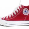 [พร้อมส่ง]รองเท้าผ้าใบแฟชั่น บูทหุ้มข้อ สีแดง รุ่น 222
