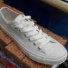 [พร้อมส่ง]รองเท้าผ้าใบ สีขาวล้วน 955D