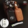 ซองหนังแท้ ใส่กุญแจรีโมทรถยนต์ รุ่นโลโก้เหล็ก Toyota Alphard Vellfire แบบใหม่