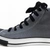[พร้อมส่ง]รองเท้าผ้าใบแฟชั่น บูทหุ้มข้อ สีเทา U.S. LEO