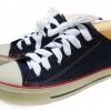 [พร้อมส่ง]รองเท้าผ้าใบแฟชั่น สียีนส์-กรม รุ่นริมแดง 191