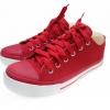 [พร้อมส่ง]รองเท้าผ้าใบแฟชั่น สีแดงสด M-35