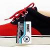 [พร้อมส่ง]รองเท้าผ้าใบแฟชั่น สีแดง-ดำ รุ่น V2