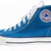 [พร้อมส่ง]รองเท้าผ้าใบแฟชั่น บูทหุ้มข้อ สีฟ้า รุ่น 222