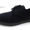 [พร้อมส่ง]รองเท้าผ้าใบแฟชั่น สีดำล้วน รุ่น M109