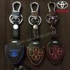 ซองหนังแท้ ใส่กุญแจรีโมท รุ่นด้ายสี พิมพ์โลโก้ Toyota Altis,Hilux Vigo,Fortuner,Camry,Innova