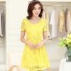 แฟชั่นเสื้อผ้า ชุดทำงานสีเหลือง ชุดเดรสสั้นสีเหลือง สวยๆ