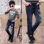 กางเกงยีนส์ขายาวเด็กผู้ชาย size 110 120 130 140 150