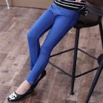 กางเกงผ้ายืดสีน้ำเงิน ผ้าหนา บุผ้าด้านใน เหมาะสำหรับใส่หน้าหนาว จ้า size 120 130 140 150 160