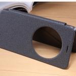 เคส asus zenfone 2 5.5 ze551ml , zenfone 2 duluxe , เคส asus zenfone 2 5.5 ze550ml ฝาพับ NILLKIN flip cover pu leather case สีดำ รับสาย ไม่ต้องเปิดฝา