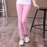 กางเกงเลคกิ้งเด็กผู้หญิงสีชมพู 120 130 140 150 160