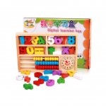 กล่องบล็อคไม้ตัวเลขและลูกคิดไม้
