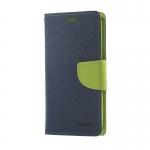 เคส asus zenfone 6 ฝาพับ ฝาปิด mercury fancy diary case สีน้ำเงิน-เขียว