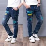 กางเกงยีนส์ขายาวเด็กผู้ชาย size 110 120 130 140