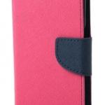 เคส asus zenfone live zb501kl (ASUS_A007) ฝาพับ ฝาปิด mercury fancy diary case สีชมพูเข้ม-กรมท่า