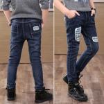 กางเกงยีนส์ขายาวเด็กผู้ชาย size 110 120