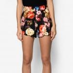 กางเกงขาสั้นลายดอกไม้สีดำ แฟชั่นสวยๆรับซัมเมอร์ สำเนา