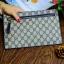กระเป๋าสตางค์แบบซิบหน้าล๊อก/กระเป๋าคลัทช์ Louis Vuitton ลายตาราง ขนาดใหญ่ (Pre) thumbnail 7