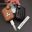 ซองหนังแท้ ใส่กุญแจรีโมทรถยนต์ รุ่นดอกกุญแจ โลโก้เหล็ก Mitsubishi Attrage,Triton แบบใหม่ thumbnail 6