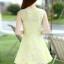 ชุดเดรสแฟชั่นเกาหลี ชุดเดรสน่ารัก ชุดเดรสสั้น ชุดเดรสสวย ๆ ชุดเดรสลูกไม้ คอกลม แขนกุด กระโปรงบาน ( S,M,L,XL ) thumbnail 7