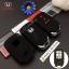 ปลอกซิลิโคน หุ้มกุญแจรีโมทรถยนต์ All New Honda CR-V G5 2017 Smart Key 3 ปุ่ม สี ดำ/แดง thumbnail 1