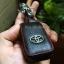 ซองหนังแท้ ใส่กุญแจรีโมทรถยนต์ รุ่นโลโก้เหล็ก Toyota Alphard Vellfire แบบใหม่ thumbnail 12