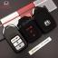 ปลอกซิลิโคน หุ้มกุญแจรีโมทรถยนต์ All New Honda CR-V G5 2017 Smart Key 3 ปุ่ม สี ดำ/แดง thumbnail 2