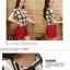 ชุดเดรสแฟชั่นเกาหลี ชุดเดรสแฟชั่นน่ารัก ชุดเชตเสื้อคอกลมแขนกุด ลายตาราง + กางเกงขาสั้น ( M, L, XL ) thumbnail 2