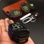 ซองหนังแท้ ใส่กุญแจรีโมทรถยนต์ รุ่นดอกกุญแจด้ายสีเรืองแสง Toyota New Vios,Yaris 2 ปุ่ม thumbnail 9