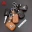ซองหนังแท้ ใส่กุญแจรีโมทรถยนต์ รุ่นดอกกุญแจ โลโก้เหล็ก Mitsubishi Attrage,Triton แบบใหม่ thumbnail 2
