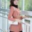 ชุดทำงานสวยๆ ชุดเดรสสั้น สีชมพู คอปก แขนยาว ให้ลุคสาวหวานสไตล์เกาหลี สวยหรู ดูดี ( S M L ) thumbnail 6