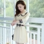 ชุดเดรสทำงานสวยๆสไตล์แฟชั่นเกาหลี สีเบจ คอกลมลายสก๊อต แขนยาว เป็นชุดทำงานออฟฟิศ(บริษัท),คุณครู,ราชการ ให้ลุคสวยหวาน น่ารักๆ ดูเรียบร้อย ( M L XL ) thumbnail 1