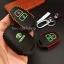 ซองหนังแท้ ใส่กุญแจรีโมทรถยนต์ รุ่นดอกกุญแจด้ายสีเรืองแสง Toyota New Vios,Yaris 2 ปุ่ม thumbnail 8
