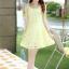 ชุดเดรสแฟชั่นเกาหลี ชุดเดรสน่ารัก ชุดเดรสสั้น ชุดเดรสสวย ๆ ชุดเดรสลูกไม้ คอกลม แขนกุด กระโปรงบาน ( S,M,L,XL ) thumbnail 13