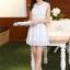 ชุดเดรสไปงานแต่งงาน ใส่ออกงาน สีฟ้า มินิเดรส ผ้าชีฟอง แขนกุด เอวเข้ารูป กระโปรงทรงสวิง ชุดเดรสสวยหวาน น่ารัก แฟชั่นสไตล์เกาหลี ( S,M,L,XL,) thumbnail 6