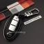 New กรอบ_เคส ใส่กุญแจรีโมทรถยนต์ Nissan March,X-Trail,Navara,Juke,Pulsar Smart Key 3 ลายเคฟล่า thumbnail 3